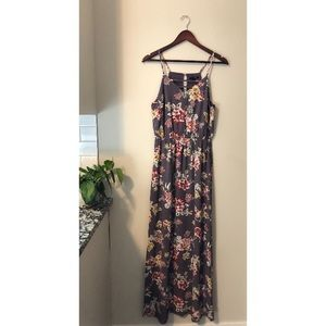 Papermoon purple floral maxi dress | size small
